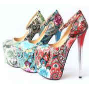 Stiletto Ethnic Style Super High Heels
