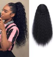 Wig Ladies Ponytail Long Curly Hair Bunch Corn Whisker Ponytail