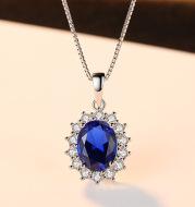 Kashmir Velvet Blue Pendant