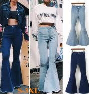 Autumn Slim Stretch Denim Jeans Pants Korean Casual Female Trousers Deep Blue