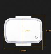 Led Vanity Mirror Usb Interface Car Sun Visor Interior Mirror Touch Switch Universal Mirror