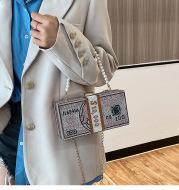 Diamond-studded Dollar Bag Full Diamond Dollar Shoulder Bag