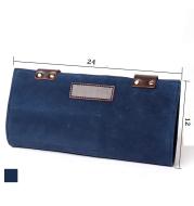 Leather Salon Barber Pure Color Roll Up Scissor Shear Holder Pouch Case Bag Hairdresser Handbag