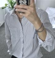 Long Sleeved Striped Shirt For Men With Slim Base Shirt