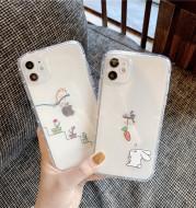 Creative Rabbit Cat Phone Case Transparent