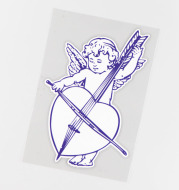 Christian Angel Playing The Cello Exterior Decoration Sticker