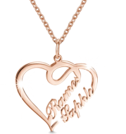 Valentine's Day Gift 925 Silver Personalized Custom Heart-shaped Letter Necklace Female