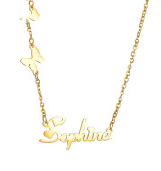 Fashion And Popular Personality DIY Stainless Steel Number And English Letter Name Pendant Custom Necklace For Women