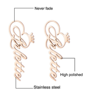 Stainless Steel Letter Earrings, Monogram Eearrings, Earrings
