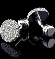 Men s Cufflinks Crystal Full Rhinestone Cufflinks