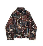 Retro Ethnic Straight Loose Short Jacket Jacket