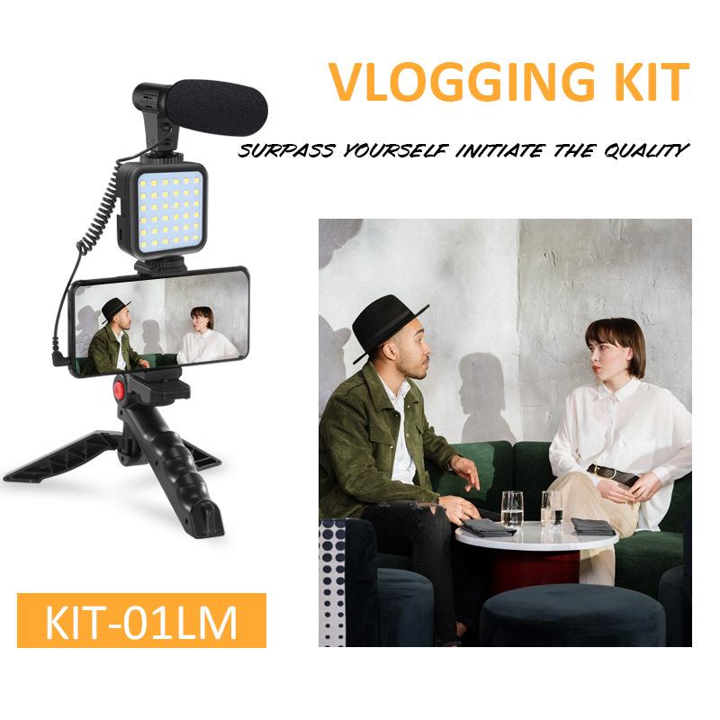 KIT-01LM Live Ring Light LED Photography Light Vibration Live Broadcast Bracket