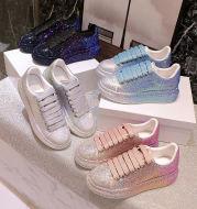 Shoes Women Sports White Shine with Rhinestone Shoes