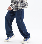 Street Style Trendy Straight Leg Pants Loose Men And Women Casual Washed Trousers