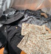 Fashion Children's Leopard Print Short-Sleeved Shirt