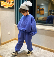 Fashion Simple Solid Color Boy Suit