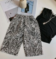 Children's Zebra Print Casual Pants Baby Korean Version