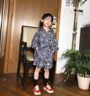 Fashion Children Pattern Retro Shirt Set