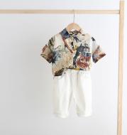 Fashion Boys Printed Shirt Short Sleeve