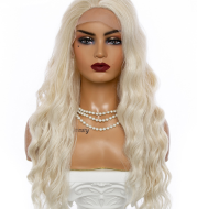 Golden Big Wave Long Chemical Fiber Lace Wig Female Headgear