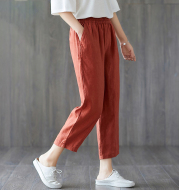 Spring And Autumn New Cropped Trousers Women Casual Pants