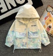 Small And Medium-Sized Children's Baby Foreign Style Camouflage Jacket