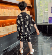 Boys Summer Clothes Net red Suit Handsome 2021 New Style Foreign Fashionable Children Big Boy Summer Short-sleeved Korean Style Tide Brand