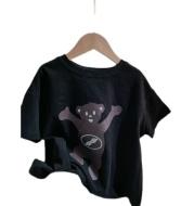 Children's Cartoon Zipper Bear Short Sleeve