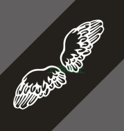 Car Reflective Stickers Car Personality Stickers Angel Wings Car Stickers Rear Stickers Wings Stickers C