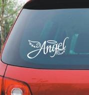 Angel Wings Reflective Sticker Angel Personalized Car Sticker Romantic Funny Car Sticker Light Eyebrow Sticker Car Rear Sticker