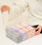 Grid Underwear Storage Box Compartment Wardrobe