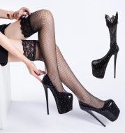 Amazon Pseudo-Mother Super High Stiletto 19cm Sexy Plus Size Women's Shoes 50 Yards Rhinestone Alternative Pseudo-Mother