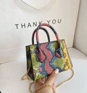 Ladies Snake Print Mini Crossbody Handbag