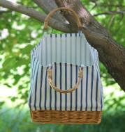 Ins Straw Woven Bag Straw Woven Linen Stitching Bag