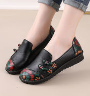 Ethnic Style Mother Shoes Autumn Women Soft-Soled Lazy Shoes Comfortable Women's Shoes Middle-Aged And Elderly Flat Shoes