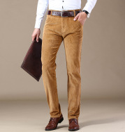Explosive Style Straight Slim Stretch Casual Trousers Middle-Aged Plus Size Pants Business Wild Men's Corduroy Pants Trend