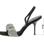 Fairy Slippers With Rhinestone Stiletto Heels