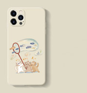 Liquid Silicone All-inclusive Lens Protection Shatter-resistant Cover Cute Cat bubble Cartoon Female