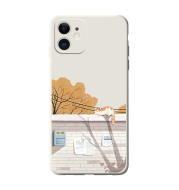 Orange Cat Apple 12promax Drop Protection Cover 12pro Creative And Interesting