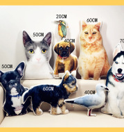 Customize Special-Shaped Pet Pillow   DIY Stuffed Animal Pillow Sofa Car Decor Cat Dog Pillow