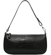 Small Black Bag Texture Shoulder Bag Simple Handbag