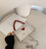 Chain Crossbody Bag Western Style One-Shoulder Small Square Bag