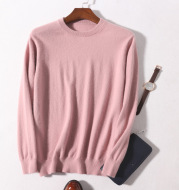Men's Round Neck Pullover Slimming Business Casual Plus Size Sweater