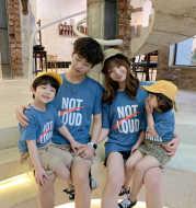 Parent Child Fashion Summer Fashion 2021 New Fashion Net Red Fried Street Short Sleeve T-Shirt