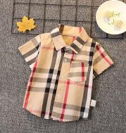 Children's Short Sleeve Cartoon Shirt Boy Summer Thin