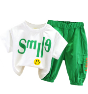 Fashionable And Handsome Short-Sleeved Baby Trend