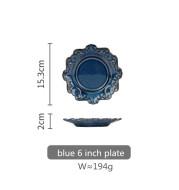Retro Embossed Ceramic Tableware