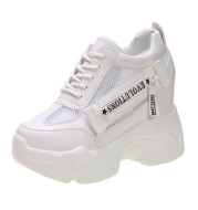 Breathable Sports Single Shoes With Increased White Shoes