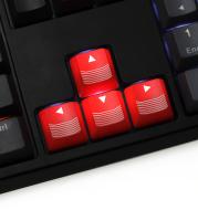 CF Mechanical keyboard personality translucent keycap