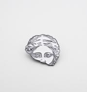 Ancient Roman Art Brooch, Lovers'' Best Friend